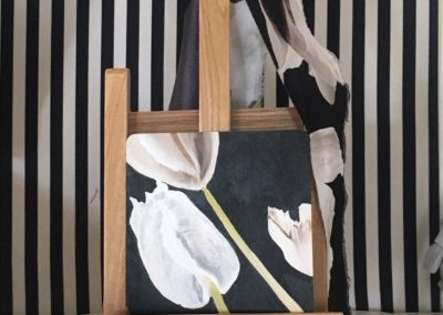 dipinto stoffa parete