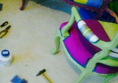 sedia divano tessuti