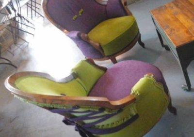 sedie poltrone rivestite
