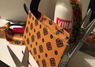 rivestimento con tesuto per borsa