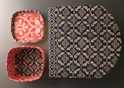 scatole e tessuti rivestimenti